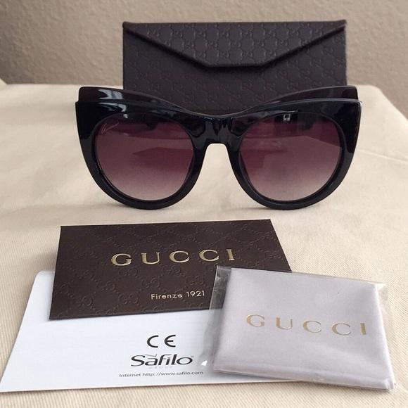 16b3c19edf03c NWT Gucci Cat Eye Frame Sunglasses